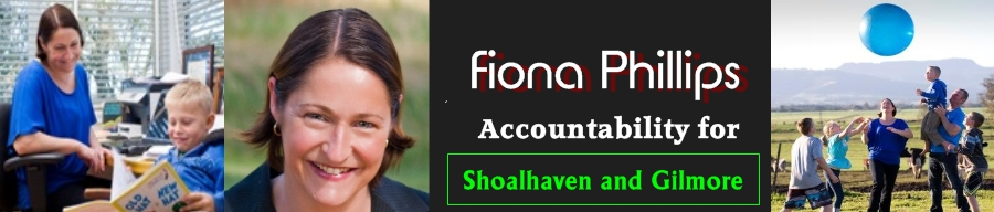 Fiona Phillips (Boyd) – Accountability for Shoalhaven, South Coast and Gilmore