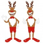 2xReindeers with thumbs up