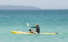 Kayaking at Callala Beach