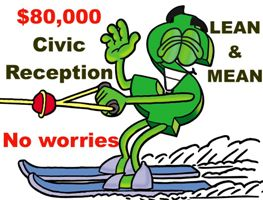 Dollar sign waterskiing $80000 Civic Reception 300 x 200