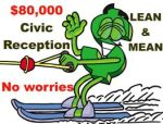 Dollar sign waterskiing $80000 Civic Reception 400 x 200