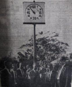 Lap Clock at Nowra Olympic Pool opening