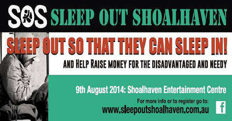 sleep out shoalhaven